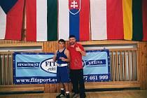Mělický boxer Josef Škop se svým trenérem Kryštofem Marounkem.