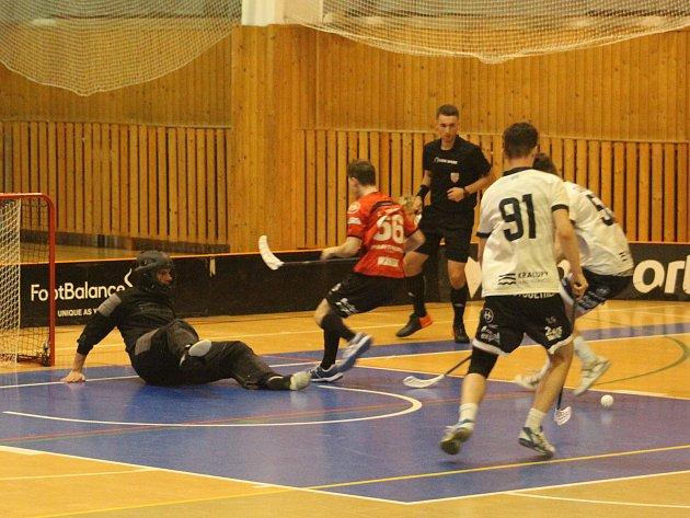 Florbalisté Kralup vyřadili ve 4.kole poháru Panthers Praha.