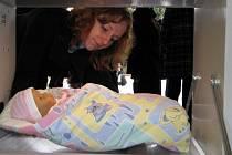 Slavnostní otevření babyboxu v mělnické nemocnici.
