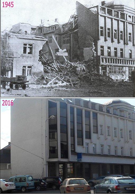 Dům Karbanových po přímém zásahu 22. března 1945.