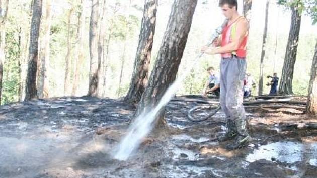 POŽÁR U ŠEMANOVIC. Požár pravděpodobně způsobilo nedokonale uhašené ohniště.