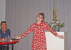 Michaela Jurková z Kralup zaujala odbornou porotu svým spontánním přednesem.