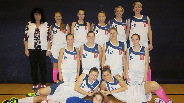 Prvoligové družstvo žen BK Kralupy Junior sezona 2014/2015