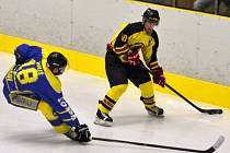 Utkání 15. kola krajské hokejové ligy mezi Mělníkem a Benešovem přineslo překvapivý výsledek v podobě vítězství hostů.
