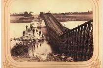 Železniční most v roce1866.
