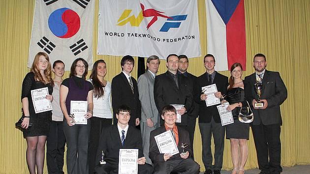 Vyhlášení neúspěšnějších sportovců taekwondo WTF za rok 2011 v Mělníku.