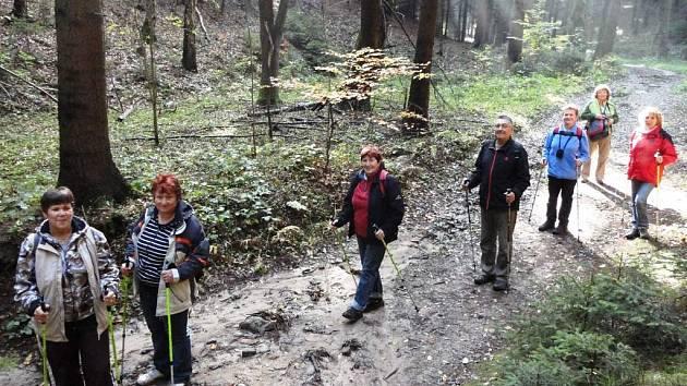 Procházka kokořínskými lesy byla ve znamení krásného podzimního počasí.