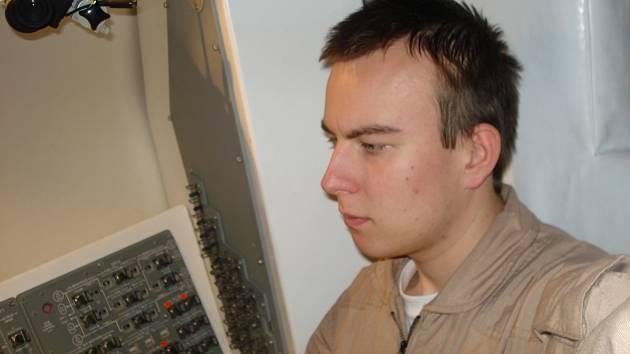 Petr Adámek na Expedici Mars 2008.