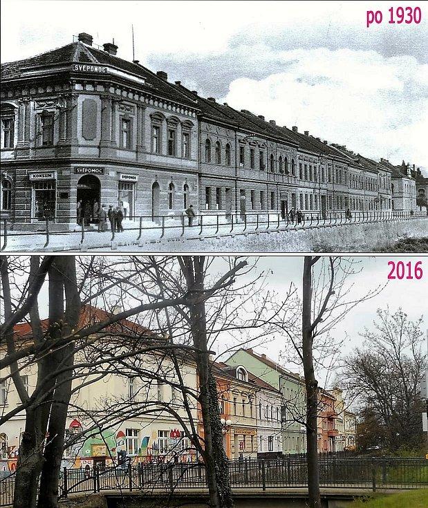 Začátek Riegrovy ulice.