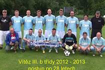 Fotbalisté Chvatěrub postoupili do okresního přeboru.