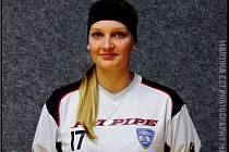 Barbora Šimonková hraje juniorskou ligu, ale dostává se už i do branky chodovského A-týmu.