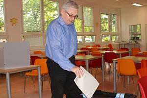 Volební místnost - Základní škola Generála Klapálka v Kralupech nad Vltavou