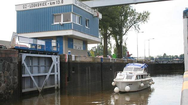 V září by měla být plavební komora v Lobkovicích kompletně zmodernizovaná.