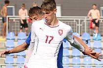 Tomáš Čvančara v dresu reprezentace do 18 let.