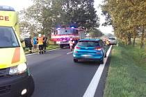 Dopravní nehoda v obci Libiš na Mělnicku