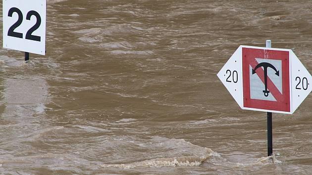 Záplavy v Kralupech nad Vltavou.