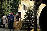 Z vítání adventu na mělnickém náměstí a v regionálním muzeu.