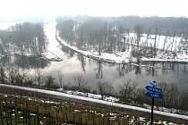 Soutok Labe a Vltavy v plavebním kanálu v Mělníku. Ilustrační foto.