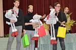 Vítězná trojice studentů ve vánoční soutěži floristů v rámci Flora Pragensis.