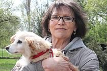 Marta Kubišová navštívila psy v mělnickém útulku.