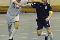 Z utkání sálového fotbalu mezi týmy Chemcomex Praha A a Fenixu Neratovice.