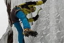 Ledové lezení - ilustrační foto