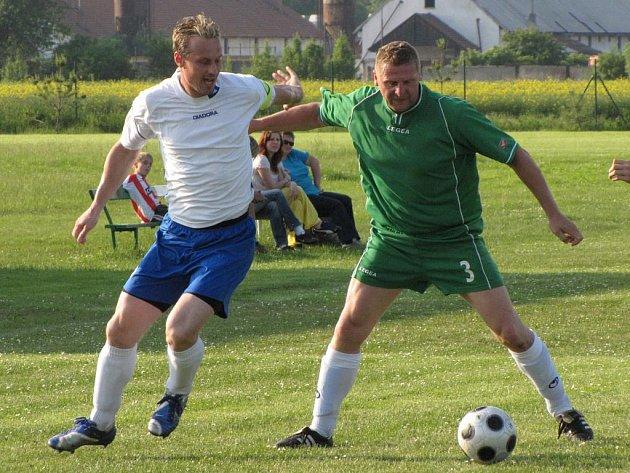 Milan Patzenhauer (vlevo) vstřelil za Cítov během dvou mistrovských sezon málo uvěřitelných 78 gólů. Přidá v nové sezoně další?