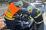 Jednotka Hasičského záchranného sboru Mělník vyjela v pondělí dopoledne k dopravní nehodě tří osobních automobilů na dálnici D8.