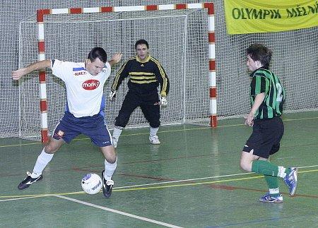 Futsalové utkání mezi Mělníkem a Terasy