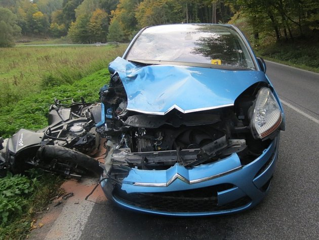 Dopravní nehoda u Medonos.