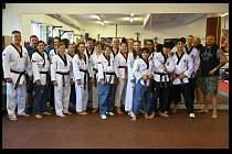 Reprezentanti v taekwondu na soustřední v Mělníku, setkali se i se stříbrným olympionikem Rudolfem Krajem