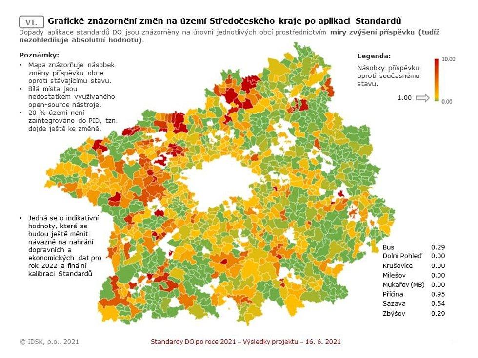 Návrh nových standardů, podle nichž by středočeské obce a města měly připlácet na ztráty spojené se zajišťováním dopravní obslužnosti, tedy provozem autobusů a vlaků.