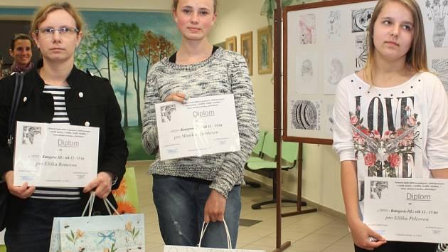 Vyhlášení výtvarné soutěže Zentangle v DDM Neratovice.