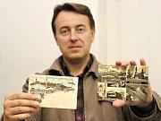 V antikvariátu Želví doupě Ivana Nekudy a Markéty Přerovské (na snímku) v mělnické Ostruhové ulici se dá Kapitál koupit asi za stokorunu za svazek.