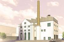 Takto by jednou mohla vypadat při pohledu z Palackého náměstí rekonstruovaná budova někdejšího kralupského pivovaru.