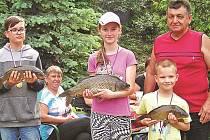 Nejlepší malí rybáři vytáhli při závodech ze stráneckého rybníka rybu přibližně každé čtyři minuty.