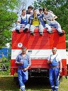 Soutěžní tým hasičů z Konětop