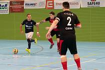 Mělnický Jakub Moravec v domácím utkání proti Helasu Brno