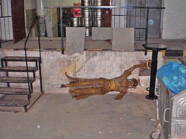 Rampa na neznámém místě v Neratovicích, kde anděl skončil.