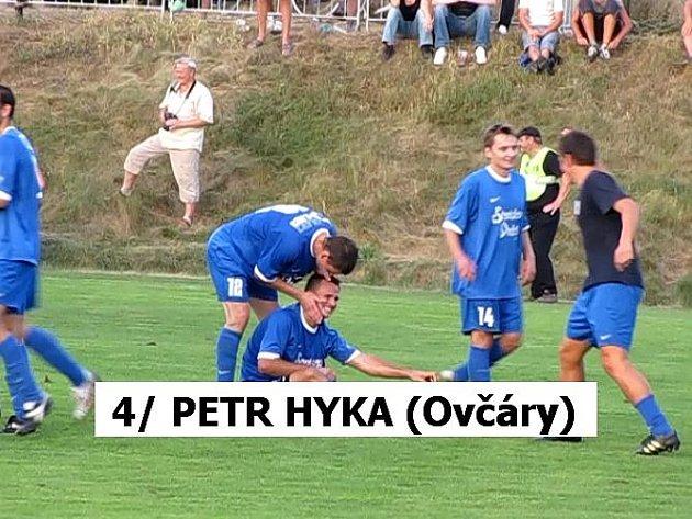 4. Petr Hyka (Ovčáry): 2. 9. 2009; 2. kolo Ondrášovka Cupu; Ovčáry - Bohemians 1905 (2:3 po PK)