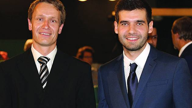 Místostarosta Vojtěch Pohl (vpravo) a Vladimír Vymětalík zastupitel a radní.