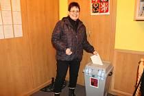 Komu dala svůj hlas tato volička z obce Konětopy se můžeme jen dohadovat.