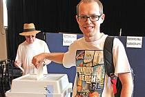 Volby do evropského parlamentu v Masarykově kulturním domě v Mělníku.