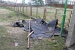 Vichřice poškodila střechu MŠ v Nebuželích. Ta je nyní na čtrnáct dní zavřená.