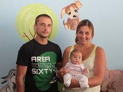Na Kristýnku dávají pozor nejen její rodiče Kateřina a Tomáš, ale také fenka ridgebacka  Mia. Její obrázek má malá slečna dokonce namalovaný v pokojíčku na zdi.