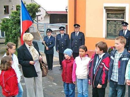 Foto z pietního aktu ve Vysoké