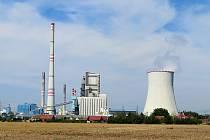 Elektrárna v mělnické lokalitě u Horních Počapel.