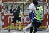 Z utkání 2. kola 1. futsalové ligy Era-Pack Chrudim - Olympik Mělník (5:1)