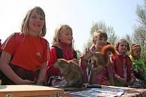 Děti slavily Den Země v psím útulku.