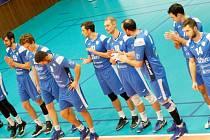 Volejbalisté Odolena Voda po prohraném domácím utkání osmifinále poháru s Ústím.
